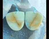 New,Amazonite Earring Bead,37x36x3mm,19.37g