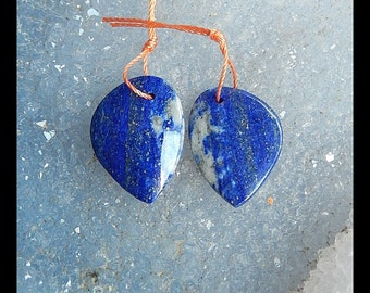 Lapis Lazuli Gemstone Earring Bead,20x15x3mm,3.8g
