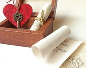 Long distance love gift, Boyfriend Birthday gift, Gift for girlfriend, Love Box - Key to your heart and a short love note
