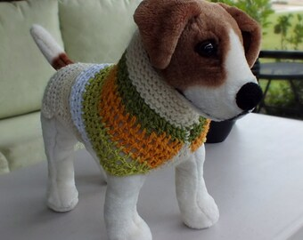 Dog Sweater Pumpkin  Small 12 inches long FREE FC SHIPPING