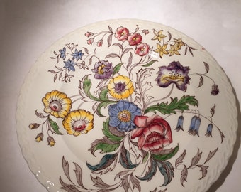 Vernon Kilns May Flower Chop Plate