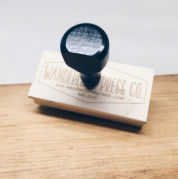 Custom logo stamp business stamp custom rubber stamp for Custom craft rubber stamps