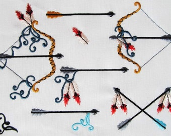 Bow arrows tribial collection - Machine mini embroidery designs for hoop 4x4 multiple sizes INSTANT DOWNLOAD