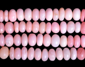 Pink opal shaded Plain Beads 8 mm to 10 mm Sold per 16-inch strand AAA Quality