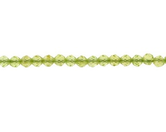 Peridot Faceted Round Bead 2.3mm - 1 Strand Wholesale price (9073)/1