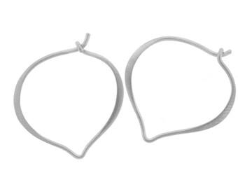 Earring Findings, Earring Hoops, Lotus Petal, Sterling Silver, 26x23mm - 1pair (2866)/1