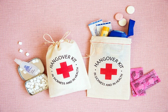 Bachelorette Party Favor Hangover Kit Bags