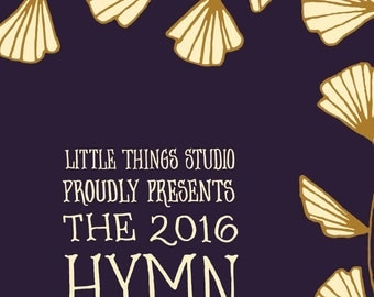 2016 Hymn Calendar by Little Things Studio 60% OFF, 12 month calendar, wall calendar, desk calendar 2016, come thou fount, it is well