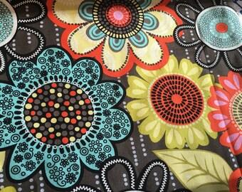 Flower Shower Vera Bradley fabric   9 X 18 inches or 18 X 18