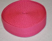"Dark  Pink 1 and  1/4"" Cotton Webbing for belts, key chains, dog collars and more Sold by the Yard~~~Ready to Ship"