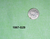 Andover Dimples Quilting Fabric Sold by the Half Yard, Blenders, Green G29