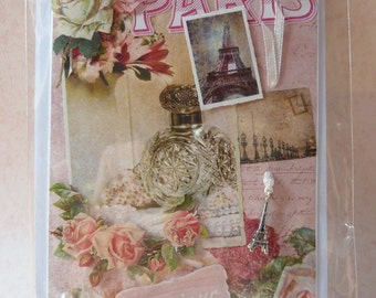 "Beautiful romantic handmade Card ""Paris"""