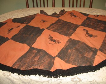 "Vintage OOAK Hand blocked Circle skirt, with designers ""Tapleys"" Label. size 14? Chess themed, Goth, Steampunk, Halloween"