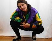 80's Vintage Picasso Print Bomber Jacket Avant-Garde Hip Hop Fashion