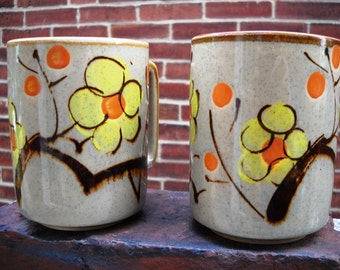 Otagiri Mugs Japanese Hand Painted botanical