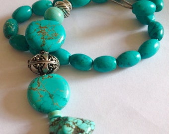 Greek Komboloi, Cypriot, Cyprus, Mediterranean Worry Beads, Relaxation, Meditation, Turquoise, Howlite