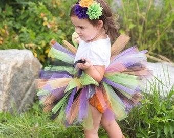 Halloween Baby Tutu and Flower Headband - Baby Witch Tutu Costume