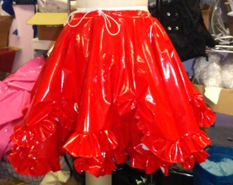 Victorian PVC skirt S/M Red from Artifice Clothing (photoshoot sample)