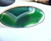 Agate Ring, Big agate ring, big ring, long ring, cabochon ring, green ring, green white ring, translucent stripes, oval ring, gemstone ring,