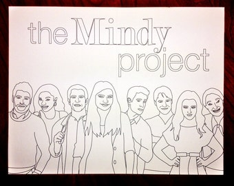 The Mindy Project: A Pop Culture Coloring Book