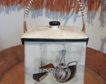 Vintage Mid Century Modern Tea Caddy Biscuit Cookie Jar