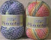 Cascade Pinwheel Yarn Skein 100% Acrylic Machine Wash Soft Baby Fiber Barberpole Candy Cane Striped Multi Colored