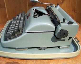 Rheinmetall Green Metalic Typewriter