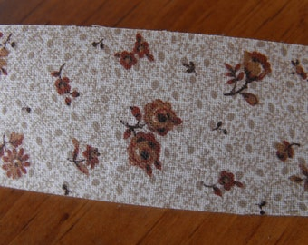 Brown Country Bonnet Fabric Ribbon 4 Yards