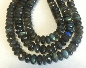 Labradorite Faceted Rondelles-10mm