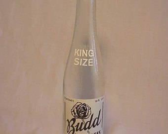1960s Budd Beverages Newport, NH ACL Painted Label Crown Top Soda Bottle