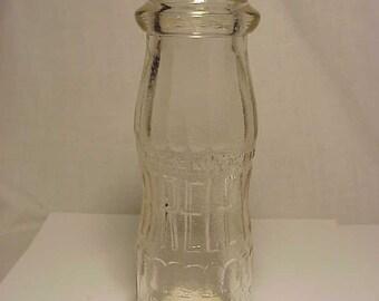 c1940 Bireleys Hollywood, California, Boston, Mass. , Embossed 6 3/4 Ounce Milk Bottle , Great Wedding Decor No. 1