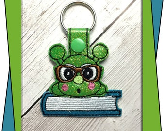 InThe Hoop Caterpillar Snap Key Fob Embroidery Machine Design