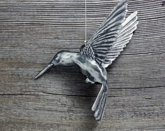 Hanging Hummingbird sculpture