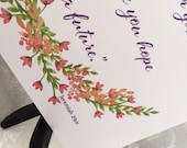 Inspirational Verse Print Jeremiah 29:11 'I know the plans' - Scripture Wall Art - Frameable Print - Gift Encouragement Graduation Friend