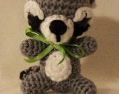 3 Baby Animals crochet PDF PATTERNS deer squirrel raccoon