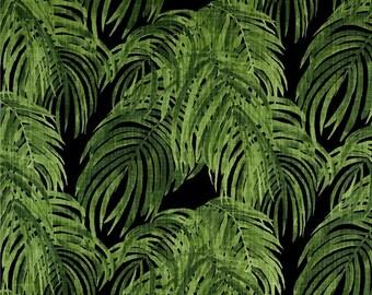 Designer Pillow Cover - Lumbar, 16 x 16, 18 x 18, 20 x 20, 22 x 22, Euro - LF Palm Villa Cayman Concord -  Green and Black