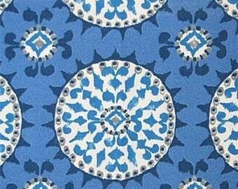 Outdoor Pillow Cover - Lumbar, 16 x 16, 18 x 18, 20 x 20, 22 x 22, Euro - Medallion DJS Blue