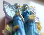 FAIRY SOAP, Hand Painted Fairy Twins Soap, Princesses Soap, Angels Soap, Princess Soap, Party Favor, Custom Scented, Detailed Soap