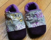 Baby Shoes Elephants, Outdoor Kids Shoes, Mimimalist Soft Soled Shoes, Toddler Slippers, Rubber Soles /  Boy Girl