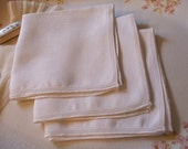 Handkerchiefs Irish Linen Set of Three Hankies Bridal Wedding June Bride