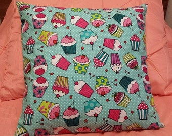 Cupcake pillow Removable Cover Sham Travel Home decor Toddler Pet Bedroom