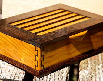 Jewelry  Box of Canarywood and Wenge