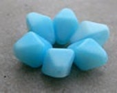 Opaque Blue Bicone beads ... 25 pieces 4mm Bicone Crystal ...  Crystal Bicones .. item -OBB74