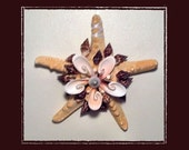 "RESERVED-RK Starfish Sea Shell Keepsake Ornament Accent #48 (Size 6.5""), Beach/Nautical/Coastal Decor, Keepsake Ornament/Wall Accent"