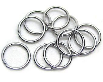 10mm Jump Rings : 100 pieces Antique Silver Open Jump Rings 10mm x 1mm (19 Gauge) -- Lead, Nickel, & Cadmium free Jewelry Finding 10/1