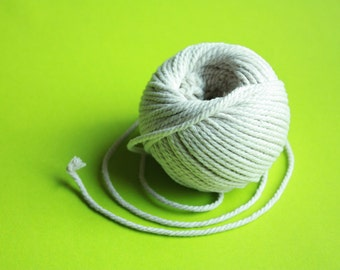 2,5 mm Cotton Twisted Cord = 1 ball = 32 yards = 30 meters of Natural Soft White Twine - Great House Decor - Natural White Macrame Rope