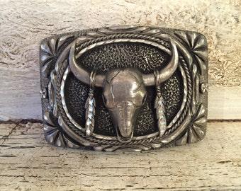 Vintage  Steer skull Buckle