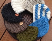 Chunky Hat/Beanie Hat/Black Hat (0-2 months)