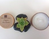 SILK Organic Whipped Aloe Vera Butter Hair and Body Butter 4oz Choose your Essential Oil