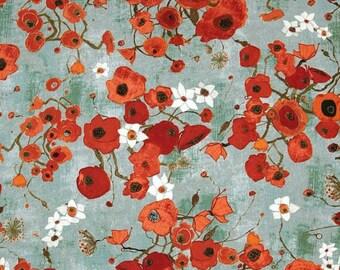 Gallery Fiori Poppies, Tonal Roses, Karen Tusinski RARE